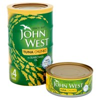 John West tuna chunks in sunflower oil, 4 pack