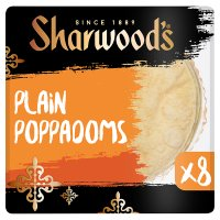 Sharwoods plain poppadoms