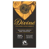 Divine Fairtrade 70% dark chocolate