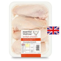 essential Waitrose 4 British boneless chicken breasts