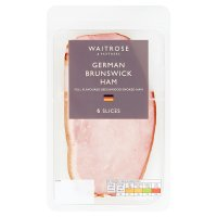 Waitrose farm assured German smoked Brunswick ham, 6 slices
