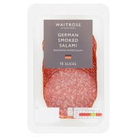 Waitrose farm assured German smoked salami, 18 slices