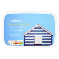 Waitrose Cornish dairy vanilla ice cream