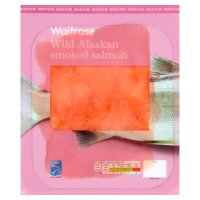 Waitrose wild Alaskan whisky oak smoked salmon, 4 slices