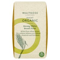 Waitrose Organic strong white bread flour