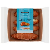 Waitrose LOVE life you count 4 French butter croissants