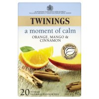 Twinings moment of calm orange, mango & cinnamon 20 tea bags