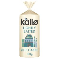 Kallo low fat wholegrain rice cakes