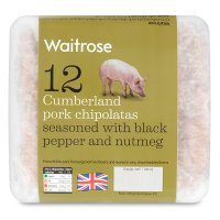 Waitrose 12 British Cumberland pork chipolatas