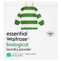 essential Waitrose biological washing powder, 22 washes