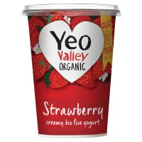 Yeo Valley organic strawberry yogurt
