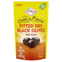 Crespo pitted black olives with herbs