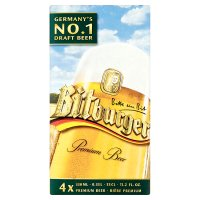 Bitburger premium beer.