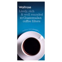 Waitrose coffee filters Guatemalan blend