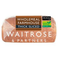Waitrose LOVE life stoneground wholemeal thick sliced bread