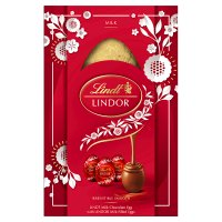 Lindt Lindor Milk Chocolate Egg with Lindor Filled Eggs 322g