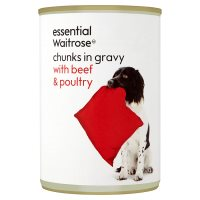 Waitrose chunks in gravy with beef & poultry