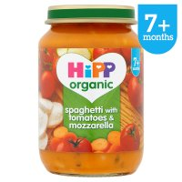 Hipp organic spaghetti with tomatoes and mozzarella - stage 2