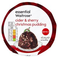 essential Waitrose Christmas pudding with cider & sherry