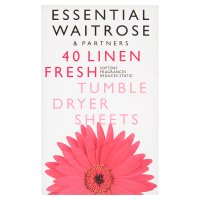 essential Waitrose fresh tumble dryer sheets