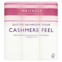 Waitrose Cashmere Quilted Toilet Rolls