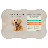 Waitrose special recipe chunks in jelly dog food selection, 6 x 400g