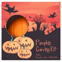 Halloween pumpkin with carving kit