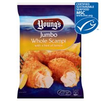 Young's premium scampi with a hint of lemon