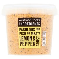 Waitrose Cooks' Ingredients lemon & pepper crust