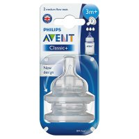 Avant Airflex Teat - 3 months, medium flow (2 per pack)