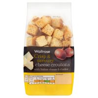 Waitrose pecorino & roasted shallot croutons