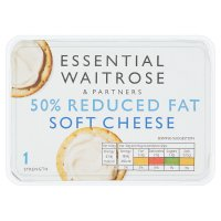 Essential Waitrose light soft cheese 200g