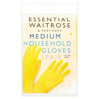 essential Waitrose household gloves, medium - 2 pairs