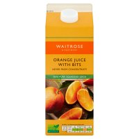 Waitrose orange juice & bits