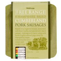 Hampshire breed free range pork Cumberland sausages