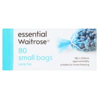 essential Waitrose frozen food bags, small - roll of 80