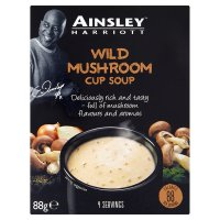 Ainsley Harriott wild mushroom cup soup, 4 servings