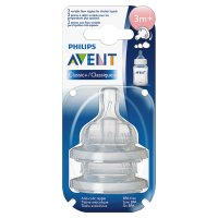 Philips Avent airflex 3month+ variable flow teat, pack of 2