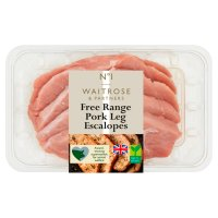 Waitrose 1 free range pork leg escalopes