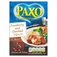 Paxo celebration stuffing chestnut & cranberry