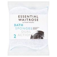 essential Waitrose dual action sponges