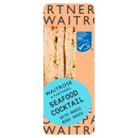 Waitrose MSC seafood cocktail sandwich