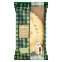 Waitrose Cheddar hand crimped cheese onion pasty