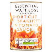 essential Waitrose short cut spaghetti in tomato sauce