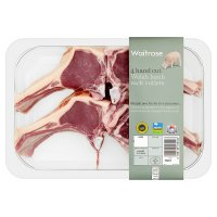 Waitrose 4 hand cut Welsh lamb cutlets