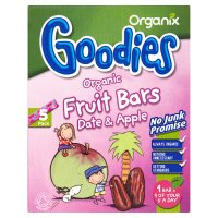 Organix date & apple fruit bars