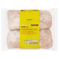 Waitrose LOVE Life wholemeal rolls