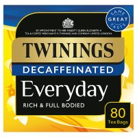 Twinings everyday decaffeinated 80 tea bags