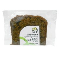 Honeyrose organic Carrot & walnut cake slice