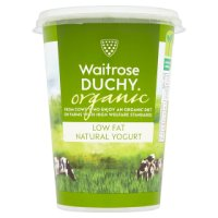 Waitrose Duchy Organic low fat natural yogurt